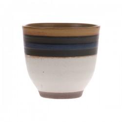 Kubek Kyoto ceramiczny niebieski w paski