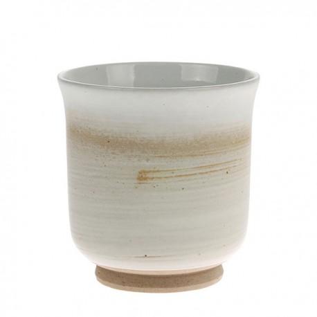 Kubek Kyoto ceramiczny kremowo-biały