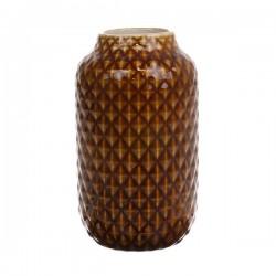 Ceramiczny wazon brązowy glazurowany