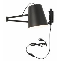 Lampa ścienna BRISBANE/W/B czarna