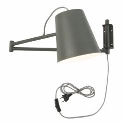 Lampa ścienna BRISBANE/W/GG szaro-zielona