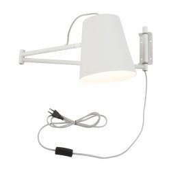 Lampa ścienna BRISBANE/W/W biała