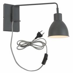 Lampa ścienna NOTTINGHAM/W/GG szaro-zielona