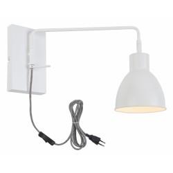 Lampa ścienna NOTTINGHAM/W/W biała