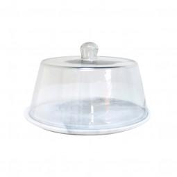 patera z pokrywą szklaną