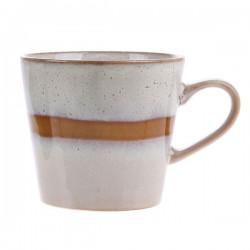 Kubek ceramiczny do cappuccino 70's: śnieg