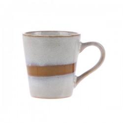 Kubek ceramiczny do espresso 70's: śnieg