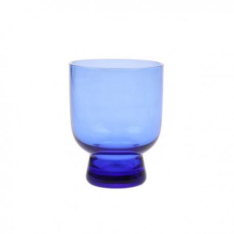 Ręcznie robione szkło rozmiar M kobaltowe