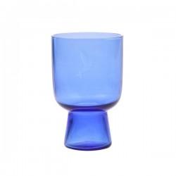 Ręcznie robione szkło rozmiar L kobaltowe