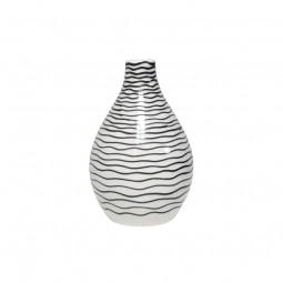 Ceramiczny wazon w czarne paski