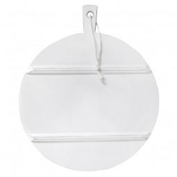 Okrągła deska drewniana L biała