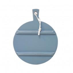 Okrągła deska drewniana M niebieska