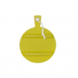 Okrągła deska drewniana S żółta