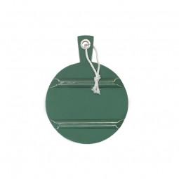 Okrągła deska drewniana S zielona