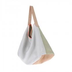 Lniano-zamszowa torba miętowa
