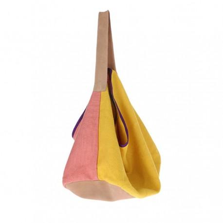 Lniano-zamszowan torba