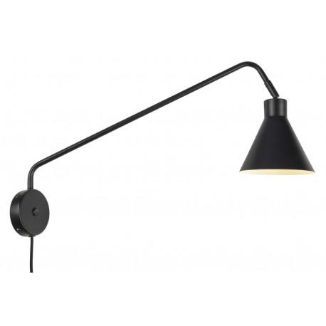 Lampa ścienna LYON/W/B, czarna
