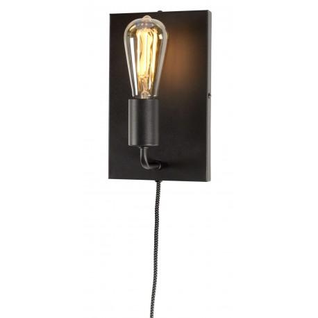 Lampa ścienna MADRID/WA/B, czarna, rozmiar L