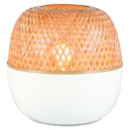Lampa stołowa Mekong bambus 25x29cm, biała/naturalny, S