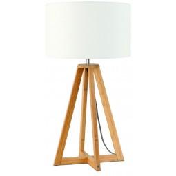 Lampa stołowa Everest 4-nożna 34cm/ abażur 32x20cm, lniany biały