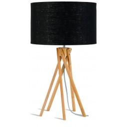 Lampa stołowa Kilimanjaro 5-nożna 34cm/ abażur 32x20cm, lniany czarny