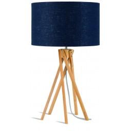 Lampa stołowa Kilimanjaro 5-nożna 34cm/ abażur 32x20cm, lniany blue denim