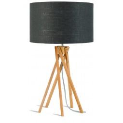 Lampa stołowa Kilimanjaro 5-nożna 34cm/ abażur 32x20cm, lniany ciemnoszary