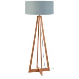 Lampa podłogowa Everest bambus 4-nożna 127cm/abażur 60x30cm, lniany jasnoszary