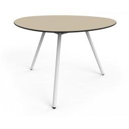 Stół Big Dine Alowha 120cm rama w kolorze białym