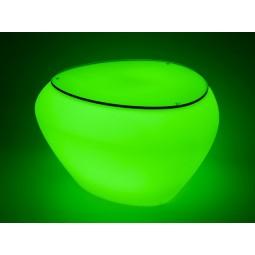 Stolik/ podnóżek TEASER LED GLASS TOP