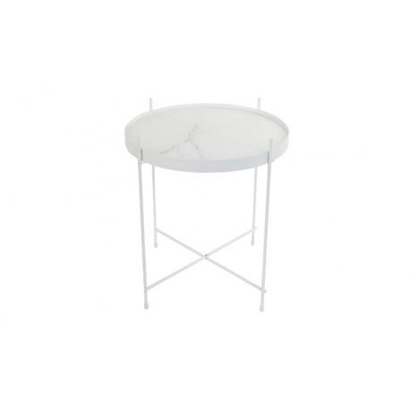 Stolik CUPID biały marmur