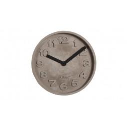 Zegar betonowy z czarnymi wskazówkami