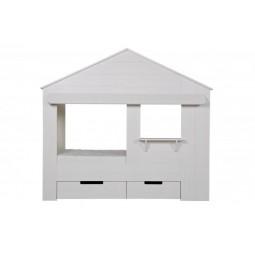 Łóżko w kształcie domku HUISIE bez szuflad