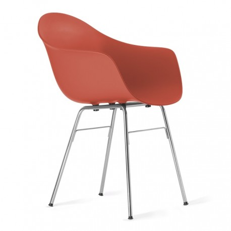 Fotel TA z podstawą metalową chromowaną