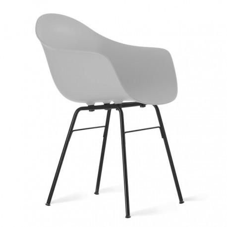 Fotel TA z podstawą metalową czarną