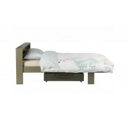 Łóżko + szuflada DERK zielony leśny - Woood