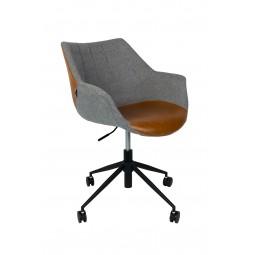 Krzesło biurowe DOULTON VINTAGE brązowe - Zuiver