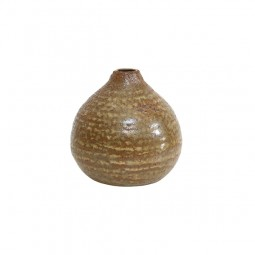 Brązowy ceramiczny wazon - HK Living
