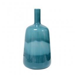 Niebieski szklany wazon - HK Living