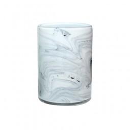 Szklana waza o wyglądzie marmuru - HK Living