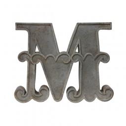 Metalowa litera M - HK Living