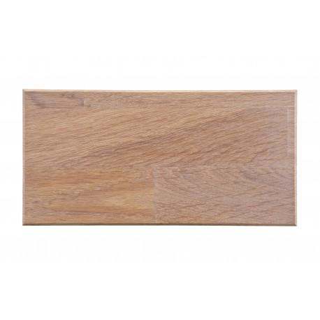 Próbka drewna dębowego olejowany na biało 10x25 - Woood