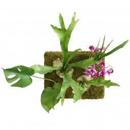 Panel ścienny ze sztucznych kwiatów