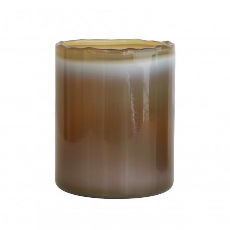 Szklany świecznik na tealight-y kolor khaki