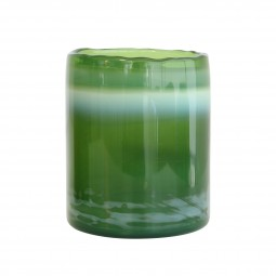 Szklany świecznik na tealight-y odcienie zieleni