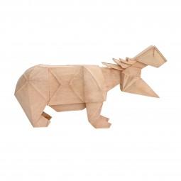 Drewniana dekoracja hipopotam