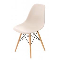 Krzesło P016W PP beige, drewniane nogi