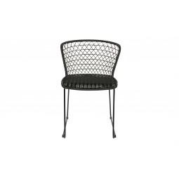 Zestaw dwóch krzeseł Quadro, kolor czarny