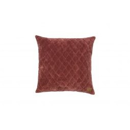 Poduszka dekoracyjna Cuddle, kolor kasztanowy, 45x45cm