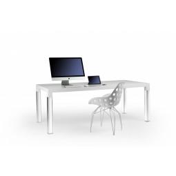 Stół MIES, biały lakier-nogi akrylowe